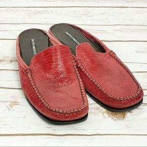 Sesto Meucci Red Mules Made in Italy Size 10M